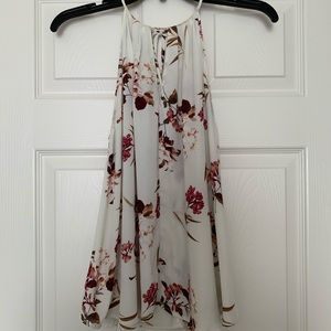 High Neck Floral Tank Top